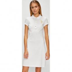 U.S. Polo - Sukienka. Szare sukienki dzianinowe marki U.S. Polo, na co dzień, m, casualowe, polo, z krótkim rękawem, mini, proste. Za 279,90 zł.