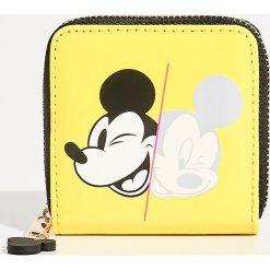 Portfel Mickey Mouse - Żółty. Żółte portfele damskie Sinsay, z motywem z bajki. Za 19,99 zł.