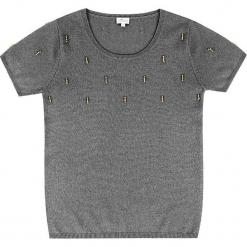 Sweter kaszmirowy w kolorze szarym. Szare swetry klasyczne damskie marki Ateliers de la Maille, z kaszmiru, z okrągłym kołnierzem. W wyprzedaży za 363,95 zł.