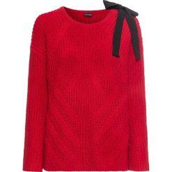 Sweter z kokardą bonprix czerwony. Szare swetry klasyczne damskie marki Mohito, l, z asymetrycznym kołnierzem. Za 49,99 zł.