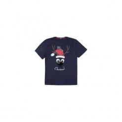 T-shirt krótki rękaw męski z printem. Szare t-shirty męskie marki TXM, z dresówki. Za 24,99 zł.