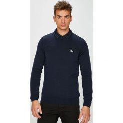 Lacoste - Sweter. Czarne swetry klasyczne męskie Lacoste, l, z bawełny, z okrągłym kołnierzem. Za 479,90 zł.