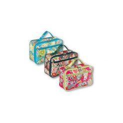 Kosmetyczki damskie: TOP CHOICE Kosmetyczka damska Silk kufer płaski (92572)