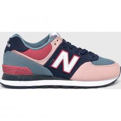 New Balance - Buty. Szare buty sportowe damskie New Balance, z materiału. Za 349,90 zł.