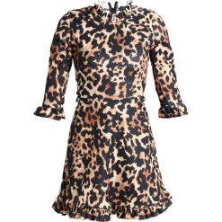Sukienki: Missguided GATHERED LEOPARD  Sukienka z dżerseju braun