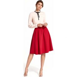 Rozkloszowana Czerwona Spódnica do Kolan. Czerwone spódniczki rozkloszowane Molly.pl, l, biznesowe, midi. W wyprzedaży za 102,21 zł.