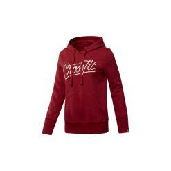 Bluzy Reebok Sport  Bluza z kapturem  CrossFit Script. Czerwone bluzy rozpinane damskie Reebok Sport, m, z kapturem. Za 249,00 zł.