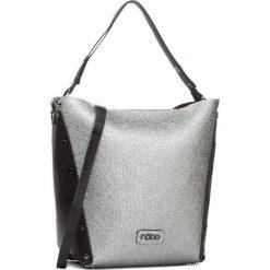 Torebka NOBO - NBAG-D2930-C020 Czarny Ze Srebrnym. Szare torebki klasyczne damskie marki Nobo, ze skóry ekologicznej, duże. W wyprzedaży za 139,00 zł.
