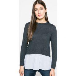 Only - Sweter New Oxford. Szare swetry klasyczne damskie marki ONLY, s, z bawełny, casualowe, z okrągłym kołnierzem. Za 129,90 zł.
