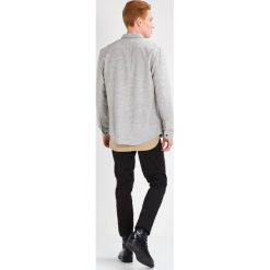 Koszule męskie na spinki: KIOMI Koszula light grey melange