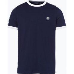 Fred Perry - T-shirt sportowy męski, niebieski. Niebieskie t-shirty męskie Fred Perry, m, z kontrastowym kołnierzykiem. Za 229,95 zł.