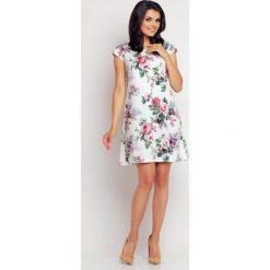 Sukienki: Letnia Sukienka z Kwiatową Grafiką