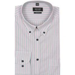 Koszula lugar 1934 długi rękaw slim fit róż. Czerwone koszule męskie na spinki Recman, m, w paski, z bawełny, button down, z długim rękawem. Za 29,99 zł.
