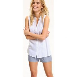 Koszule damskie: KOSZULA DAMSKA BEZ RĘKAWÓW DAMSKA W PASKI
