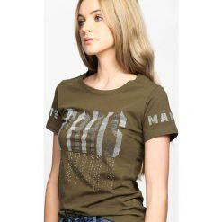 T-shirty damskie: Khaki T-shirt Train Of Thought