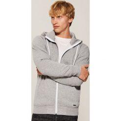 Rozpinana bluza basic - Szary. Szare bluzy męskie rozpinane marki House, l, z bawełny. Za 79,99 zł.