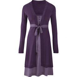 Sukienka dzianinowa bonprix lila - jasny lila. Czarne sukienki dzianinowe marki bonprix, w koronkowe wzory. Za 99,99 zł.