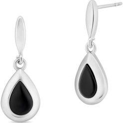 Kolczyki damskie: Zjawiskowe Kolczyki Srebrne – srebro 925, Onyks