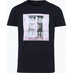 T-shirty męskie z nadrukiem: BOSS Casual – T-shirt męski – Tauno 3, niebieski