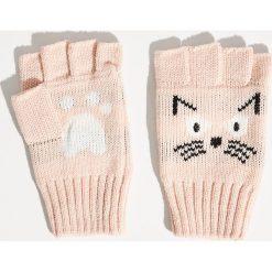 Rękawiczki bez palców - Różowy. Czerwone rękawiczki damskie Sinsay. Za 19,99 zł.