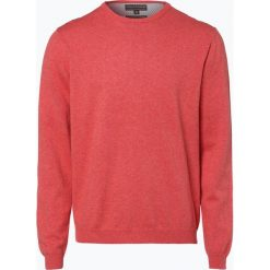Swetry klasyczne męskie: Finshley & Harding – Sweter męski – Pima-Cotton/Kaszmir, pomarańczowy