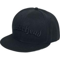 Motörhead Black Logo Czapka Snapback czarny. Czarne czapki damskie Motörhead, z aplikacjami, z tworzywa sztucznego. Za 79,90 zł.
