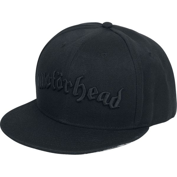 Motörhead Black Logo Czapka Snapback czarny - Czarne czapki z ... f4ba65fcda4