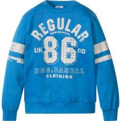 """Bluza z nadrukiem w stylu """"college"""" bonprix lodowy niebieski z nadrukiem. Niebieskie bluzy dziewczęce rozpinane marki bonprix, z nadrukiem. Za 24,99 zł."""