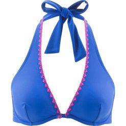 Stroje kąpielowe damskie: Biustonosz bikini na fiszbinach bonprix niebieski