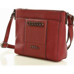 NOBO  Elegancka torebka listonoszka torebka czerwony. Czerwone listonoszki damskie Nobo, w paski, ze skóry, zdobione. Za 149,00 zł.