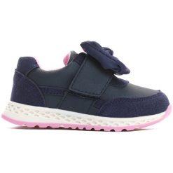 Granatowe Buty Sportowe Be With You. Niebieskie buty sportowe dziewczęce marki Born2be, z materiału, z okrągłym noskiem, na obcasie. Za 39,99 zł.