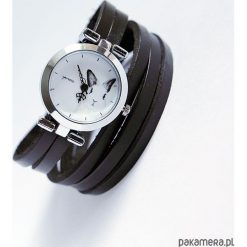 Zegarki damskie: Zegarek, bransoletka - Królik - czarny, owijany