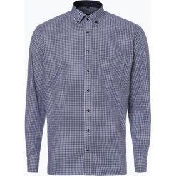 Eterna Modern Fit - Koszula męska niewymagająca prasowania, niebieski. Niebieskie koszule męskie non-iron marki Eterna Modern Fit, m, w kratkę, z bawełny, z klasycznym kołnierzykiem. Za 229,95 zł.