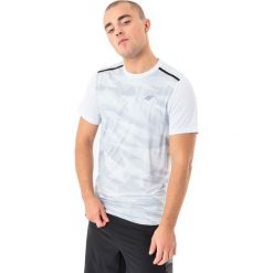 4f Koszulka męska H4L18-TSMF003 biała r. XL. Białe koszulki sportowe męskie 4f, l. Za 58,90 zł.