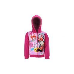 Bluza rozpinana dziewczęca ze ściągaczami, z kapturem, rozpinana Myszka Minnie Myszka Minnie. Różowe bluzy dziewczęce rozpinane marki TXM, z motywem z bajki, z kapturem. Za 24,99 zł.