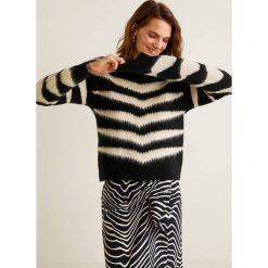 Swetry klasyczne damskie: Mango - Sweter Zebra