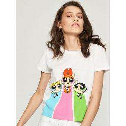 T-shirt z Atomówkami - Biały. Białe t-shirty damskie marki Sinsay, l. W wyprzedaży za 24,99 zł.