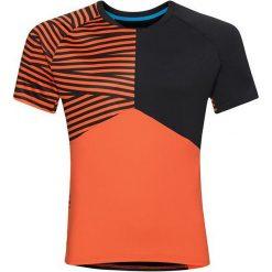 Odlo Koszulka rowerowa Morzine Shirt s/s crew neck czarno-pomarańczowa r. L (411502). Brązowe odzież rowerowa męska marki Odlo, l. Za 121,10 zł.