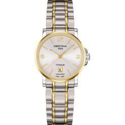 PROMOCJA ZEGAREK CERTINA DS Caimano Titanium Lady. Szare zegarki damskie CERTINA, ze stali. W wyprzedaży za 1290,00 zł.