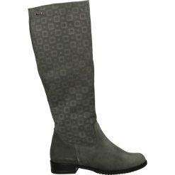 Kozaki ocieplane - 46 CAM GRIG. Czarne buty zimowe damskie marki Kazar, ze skóry, na wysokim obcasie. Za 249,00 zł.