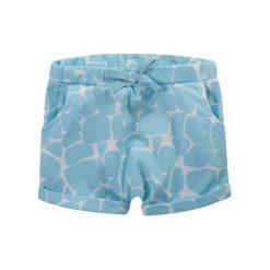 Krótkie spodenki w afrykański deseń dla niemowlaka. Niebieskie spodnie niemowlęce Endo. Za 13,90 zł.