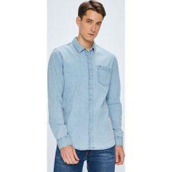 Tommy Jeans - Koszula. Szare koszule męskie casual marki Tommy Jeans, l, z bawełny, z klasycznym kołnierzykiem, z długim rękawem. W wyprzedaży za 249,90 zł.