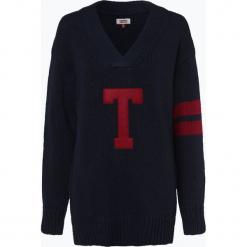 Tommy Jeans - Sweter damski, niebieski. Niebieskie swetry klasyczne damskie Tommy Jeans, m, z jeansu. Za 449,95 zł.
