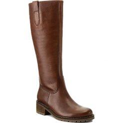Oficerki GABOR - 76.097.12 Caramello. Czarne buty zimowe damskie marki Gabor, z materiału, na płaskiej podeszwie. W wyprzedaży za 479,00 zł.