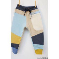 Spodnie męskie: PATCH PANTS spodnie 74 - 98 cm krem & błękit