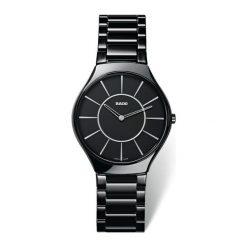 RABAT ZEGAREK RADO TRUE THINLINE R27 741 16 2. Czarne zegarki męskie marki RADO, ceramiczne. W wyprzedaży za 4968,00 zł.