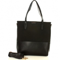 MONNARI Minimalistyczny shopper bag czarny. Czarne shopper bag damskie Monnari, w paski, ze skóry. Za 159,00 zł.