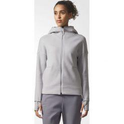 BLUZA ADIDAS ZNE HOOD2 PULSE. Białe bluzy sportowe damskie marki Adidas, z bawełny, z długim rękawem, długie. Za 199,99 zł.