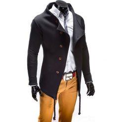 BLUZA MĘSKA ROZPINANA BEZ KAPTURA B310 - CZARNA. Czarne bluzy męskie rozpinane marki Ombre Clothing, m, z bawełny, bez kaptura. Za 99,00 zł.