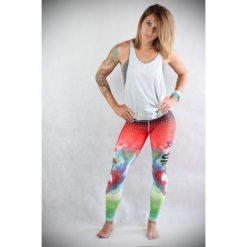 Spodnie sportowe damskie: Spokey Spodnie damskie Simbela czerwono-zielone r. XS